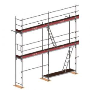 Innenliegender Leitergang (hier: Wilhelm Layher GmbH & Co KG)
